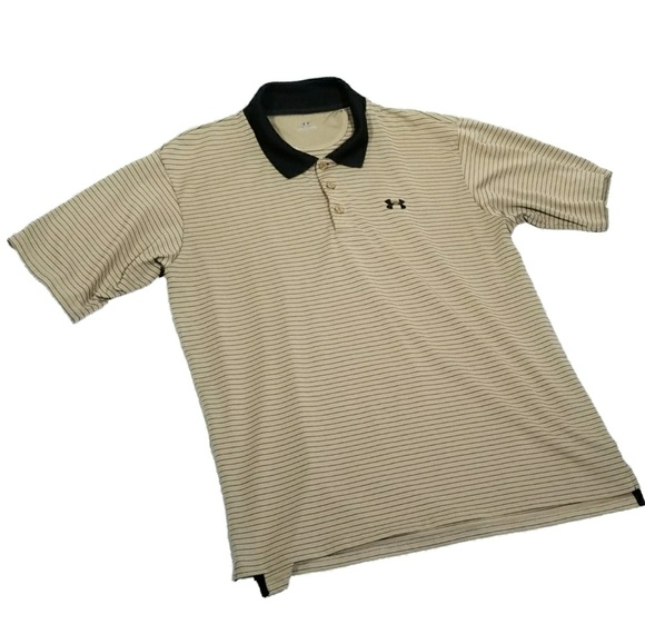 323836d6 Mens Under Armour Tan Polo - Size Large